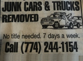 Junk Cars & Trucks Removed